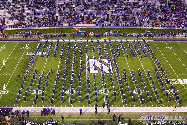 Notre Dame's Band of the Fighting Irish Performs at Northwestern University - November 3, 2018