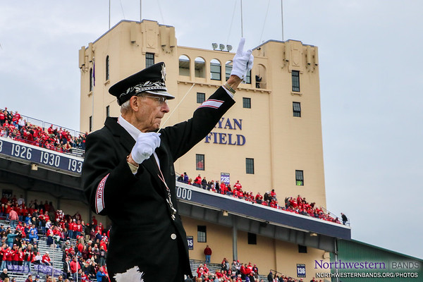 We Are Honored to have @BadgerBand Prof. Michael Leckrone Conduct Our National Anthem