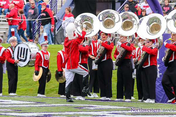 Wisconsin Badger Band at Northwestern - October 27, 2018