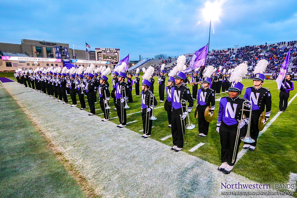 """Ladies and Gentlemen, the Northwestern University 'WWWWIIIIILLDCAT' Marching Band!"""