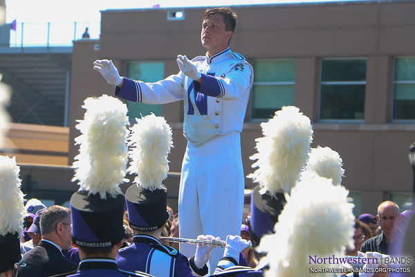 Drum Major Ethan Reiss Debuts at #WildcatAlley