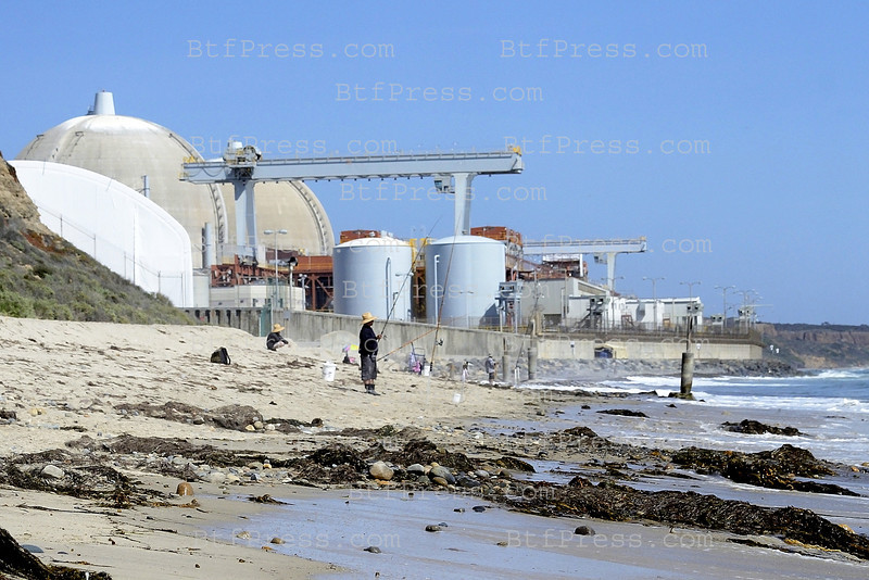 San Onofre nuclear plant plant has been shut down since January due to problems with unusual wear in steam generator tubes.  Even San Onofre, which has one of the worst safety records of nuclear power plant, during the weekend hundred of surfers, fisherman and families stay close to the nuclear plant for the day,
