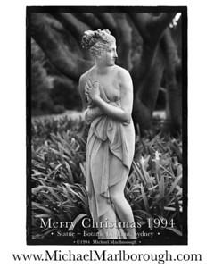 X-Mas 1994 - Statue | Sydney Botanic Gardens