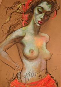 Nude, pastel