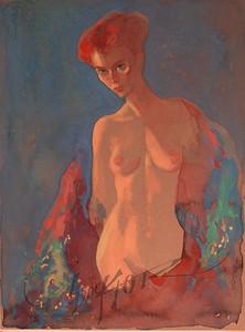 Nude, watercolor