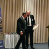 Brendon Smart _L_ is awarded Life Membership of Nuffield Australia by Peter Nixon