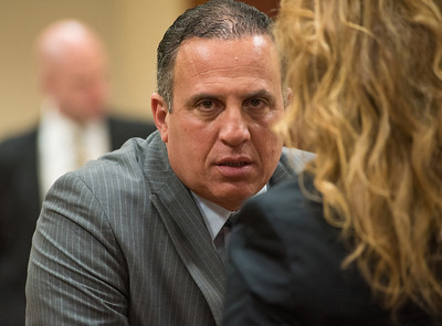 Defendant Gilberto Nunez talks during a break in the pretrial at the Ulster County Courthouse in the City of Kingston, NY on Wednesday, May 11th, 2016. KELLY MARSH/For the Times Herald-Record