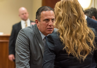 Defendant Gilberto Nunez talks during a break in the pretrial hearing at the Ulster County Courthouse in the City of Kingston, NY on Wednesday, May 11th, 2016. KELLY MARSH/For the Times Herald-Record