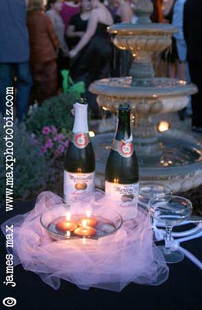 """Detail images also help tell the story of your wedding day.  Here's a nice shot of the """"champagne"""" set out for the toasts."""