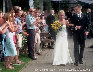 This was an outdoor wedding where the weather may or may not be your friend.