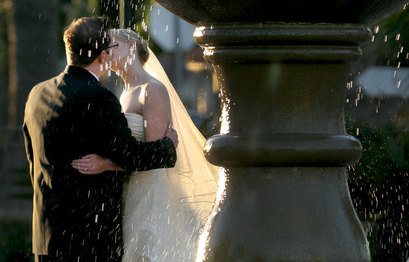Sometimes the best images are not where and when you expect them as this image from behind the fountain.
