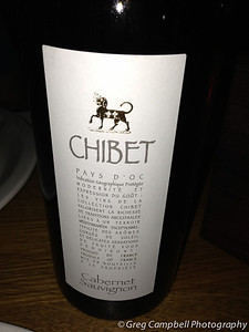 A nice Cab-Sauv that Markus and I shared over Pizza. (iPhone photo)