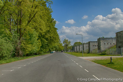 Looking along the north west edge of Zeppelin Field towards the north east.
