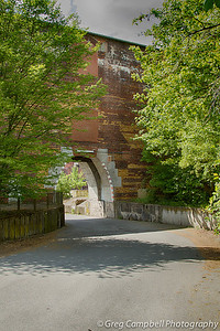 An entrance portal through the North East wall of Congress Hall - it leads into the inner horse shoe.
