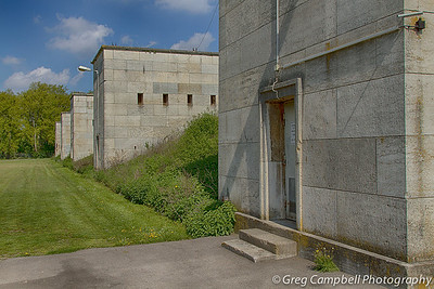 Part of the many structures which line the three edges of Zeppelin Field.