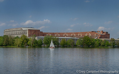 Another image of Congress Hall with a sailboat to give it a bit of scale. This is looking directly west into the unfinished structure.