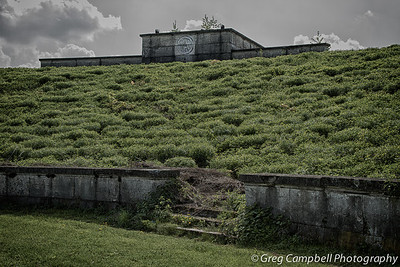 A closer view of the South corner of Zeppelin Field.