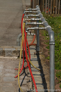 Some sort of semi-modern watering manifold on the inside of the south west side of Zeppelin Field.