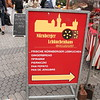 Near the St. Lorenz church, there is a large outdoor market, the Hauptmarkt, which was fun to see.  It caters to tourists from numerous countries, as you can see here.