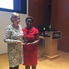 From left to right: Elaine Smith '78 and Launette Woolforde, Ed.D.