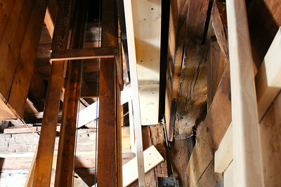 Stabilization: looking up, inside tower