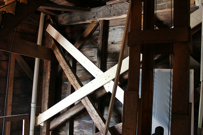 Stailization: north wall tower at attic level