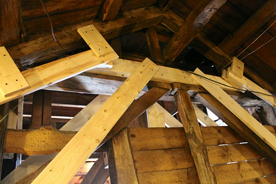 Stabilization: inside attic west end