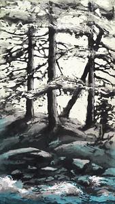Skog ved bekken, 2019, 1900,-