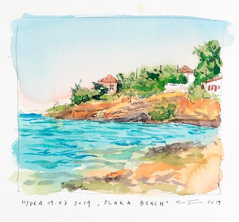 Plaka Beach, Hydra, 9. juli 2019, 2900,- m. ramme