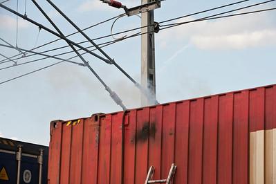 Brand i godståg