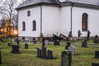 Brandtillbud Bergs kyrka