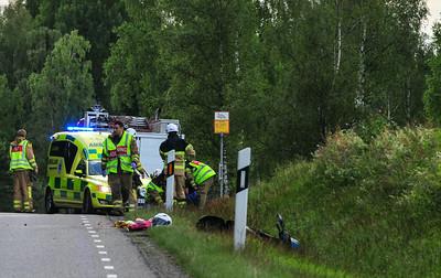 Trafikolycka rv30 Bodaryd Moped