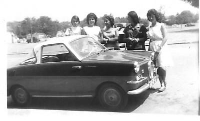 6/10/1963 em Silva Porto, Gaby Russell, Né Josefa, Isabel Medeiros, Manuela Simões  e Helena Nogueira