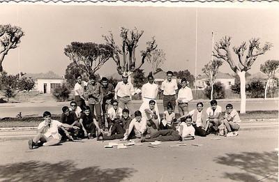 Silva Porto 1966 Finalistas do 5º Ano — João Costa, Carlos Alberto Pinto, Carlos Soares Marques e Fláu.