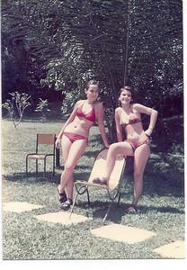 1975 - Piscina Dundo   Ju Prudente e Zezinha Gameiro