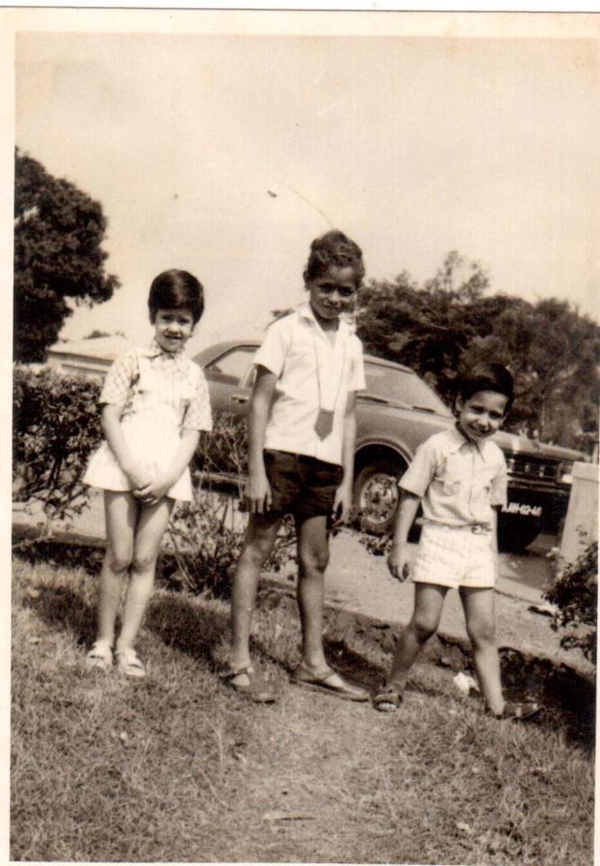 Luxilo 1974 Nita, Silvestre Pinheiro, Diogo. ( A Nita e o Diogo - netos do Figueiredo Antunes)