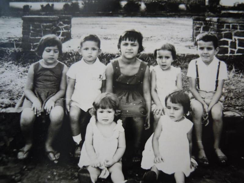 Andrada 1962 Teresa Beato;Orlando Ribeiro; Ana Maria Ribeiro ( filhos de Manuel Ribeiro); Deolinda e Zé ( filhos do Carvalho da Casa Pessoal). Baixo: Ruth e Felizbela também filha do Carvalho