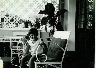 Paula Pinho Barros na varanda