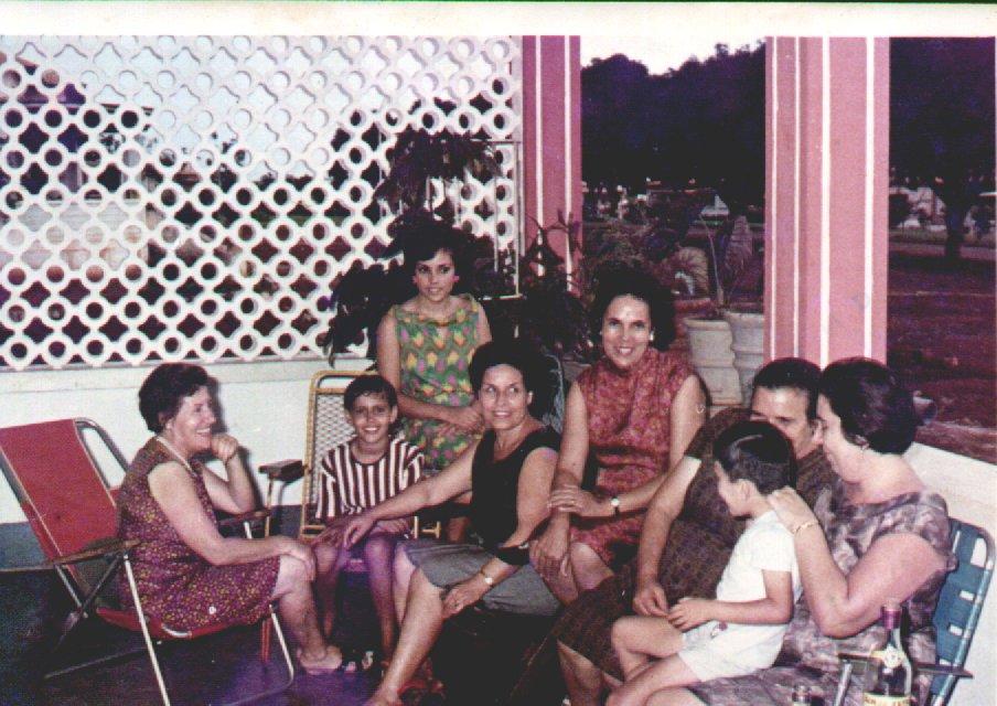 Andrada - Casa do Pacheco, 1969 Alice Pacheco, Paulinha Simões, Elisa Pereira, sra do Aires Marques, Mae da Lisa, ....?, sra do Freitas e...???