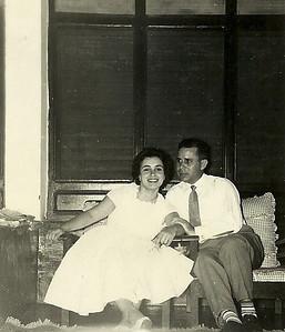 Maria Eduarda Saldanha e esposo Joaquim Saldanha - Fim do ano de 1959