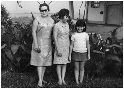 Tina Oliveira, Odete Ermida e Isabel Ermida no Cossa