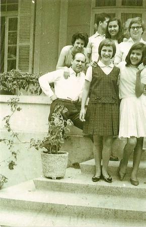 Luso Casal Videira e filhos Nelo e Milu', Teresa e Guida Cerejeira e Elza Manuel Augusto.