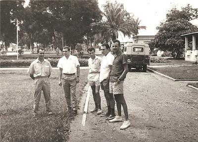 """Patrao, Aguiar, ?, Martinho, Carvalho """"Fininho""""."""