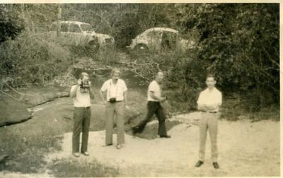 No Luachimo Sérgio H. Santos, Eng. Silva Pinto, Major Vala, Major Mariz Fernandes.