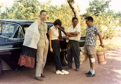 1962, Lovua, Junho Casal Dr. Barros Machado, Dr. Ramos e Dr. David Bernardino