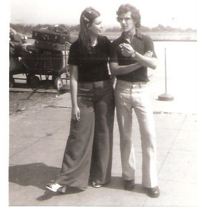 Partida do aeroprto do Dundo para Portugal 04/08/1974, Paula Borges, Beto Poeira