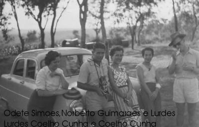 Odete Simoes, casal Norberto Guimaraes, Lurdes Coelho e Coelho Cunha