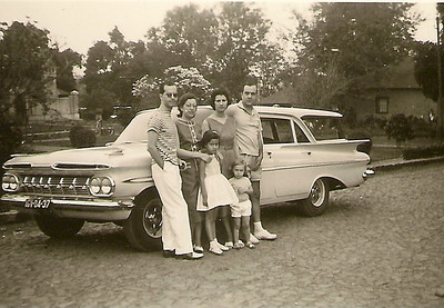 Começo da viagem de regresso em Out.1959 Familia Rogerio Mendes com casal Bruno Costa