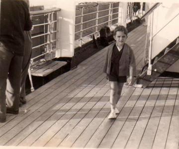 Luis Veiga no barco