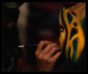 Nick Wolfe, body painting world champion